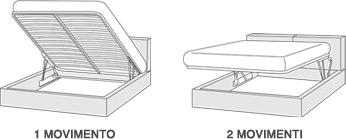 Optional letti 160 hoppl napoli - Meccanismo per letto contenitore prezzi ...